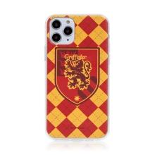 Kryt Harry Potter pro Apple iPhone 12 / 12 Pro - gumový - emblém Nebelvíru
