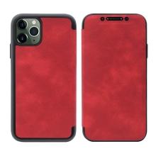 Pouzdro Pro Apple iPhone 11 Pro - umélá kůže / gumové - vínové