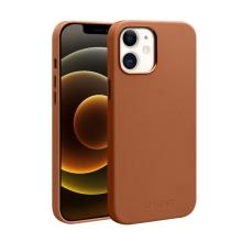 Kryt QIALINO pro Apple iPhone 12 / 12 Pro - kožený - hnědý