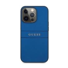 Kryt GUESS Saffiano pro Apple iPhone 13 Pro - umělá kůže - modrý