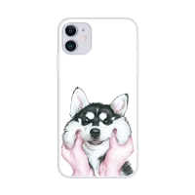 Kryt pro Apple iPhone 12 / 12 Pro - gumový - buclatý pes