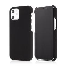Kryt pro Apple iPhone 12 mini - plastový - měkčený povrch - černý