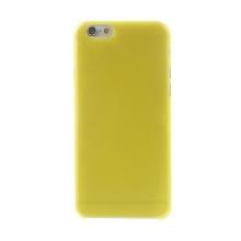 Ultra tenký plastový kryt pro Apple iPhone 6 (tl. 0,3mm) - matný - žlutý