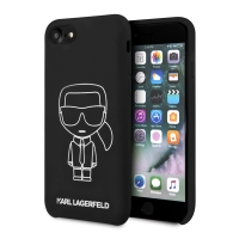 Kryt KARL LAGERFELD  Iconic pro Apple iPhone 7 / 8 / SE (2020) - silikonový - černý