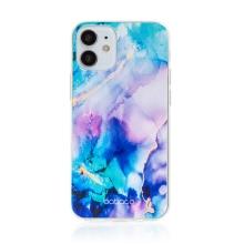 Kryt BABACO pro Apple iPhone 12 mini - gumový - mlhovina - růžový / modrý