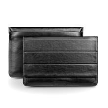 Brašna QIALINO pro Apple MacBook Air / Pro 13 kožená luxusní - černá