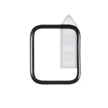 Tvrzené sklo (Tempered Glass) RURIHAI pro Apple Watch 44mm Series 4 / 5 / 6 / SE - 3D okraj - černé / čiré