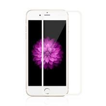 Super odolné tvrzené sklo (Tempered Glass) na přední část Apple iPhone 6 / 6S - tenký bílý rámeček - 0,3mm