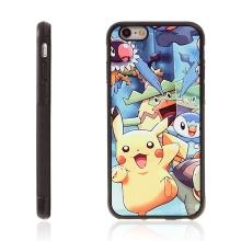 Kryt pro Apple iPhone 6 / 6S - kovový povrch - gumový - Pokemon Go / vysmátý Pikachu