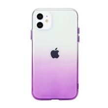 Kryt pro Apple iPhone 11 - gumový - průhledný / fialový