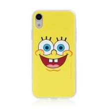 Kryt Sponge Bob pro Apple iPhone Xr - gumový - vysmátý Sponge Bob