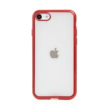 Kryt FORCELL Electro Matt pro Apple iPhone 7 / 8 / SE (2020) - gumový - průhledný / červený