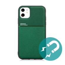 Kryt pro Apple iPhone 11 - vestavěný plíšek pro držáky - plastový / gumový - zelený