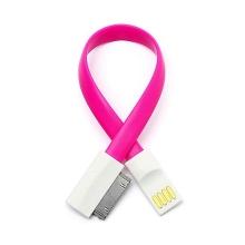 Synchronizační a nabíjecí USB kabel s 30-pin konektorem - růžový