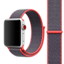 Řemínek pro Apple Watch 40mm Series 4 / 5 / 38mm 1 2 3 - nylonový - svítivě růžová