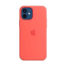 Originální kryt pro Apple iPhone 12 / 12 Pro - silikonový - citrusově růžový