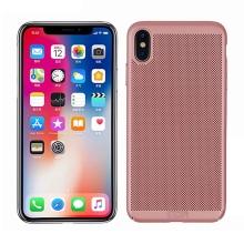 Kryt MOFi pro Apple iPhone Xs Max - perforovaný / s otvory - plastový - Rose Gold růžový