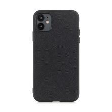 Kryt pro Apple iPhone 12 / 12 Pro - plastový / umělá kůže - černý