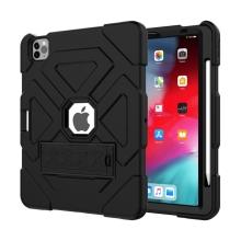 """Kryt / pouzdro pro Apple iPad Pro 11"""" (2018 / 2020) / Air 4 - outdoor - odolný - výřez pro logo - silikonový - černý"""
