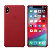 Originální kryt pro Apple iPhone Xs Max - kožený - červený