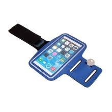 Sportovní pouzdro pro Apple iPhone 6 / 6s / 7 / 8 Plus a X / Xs / Xr - reflexní pruh - tmavě modré