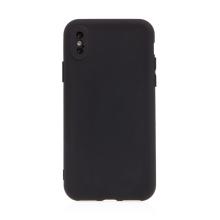 Kryt pro Apple iPhone X / Xs - příjemný na dotek - silikonový - černý