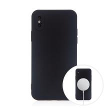 Kryt pro Apple iPhone X / Xs - MagSafe magnety - silikonový - černý