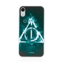 Kryt Harry Potter pro Apple iPhone Xr - gumový - Relikvie smrti - černý