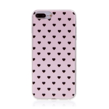 Kryt BABACO pro Apple iPhone 6 Plus / 6S Plus - gumový - srdíčka - růžový