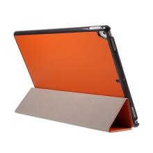 """Pouzdro / kryt pro Apple iPad Pro 12,9"""" / 12,9"""" (2017) - integrovaný stojánek - umělá kůže - oranžové"""