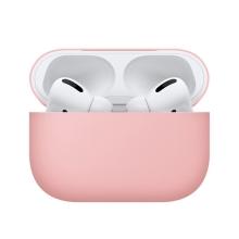 Pouzdro / obal BENKS pro Apple AirPods Pro - silikonové - růžové