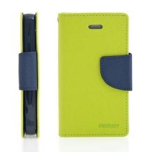 Pouzdro Mercury Fancy Diary pro Apple iPhone 4 / 4S, stojánek a prostor pro platební karty - zelené