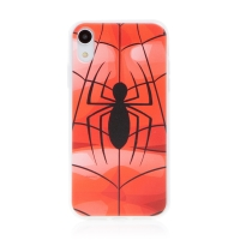 Kryt MARVEL pro Apple iPhone Xr - gumový - pavouk