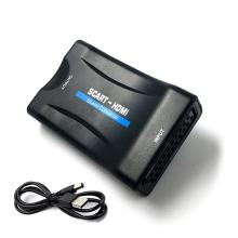 Přepojka / redukce SCART samice (vstup) na HDMI samice (výstup) - aktivní provedení - černá