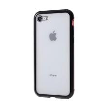 Kryt pro Apple iPhone 7 / 8 / SE (2020) - 360° ochrana - magnetický - skleněný / kovový - černý / červený