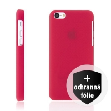 Ochranný kryt Nillkin pro Apple iPhone 5C - červený s jemnou povrchovou strukturou + ochranná fólie