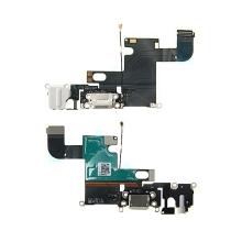 Napájecí a datový konektor s flex kabelem + audio konektor jack + GSM anténa + mikrofon pro Apple iPhone 6 - bílý - kvalita A+