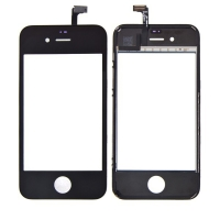 Dotykové sklo (touch screen) pro Apple iPhone 4S - černý - kvalita A