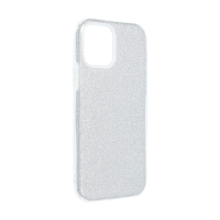 Kryt FORCELL Shining pro Apple iPhone 12 Pro Max - plastový / gumový - stříbrný