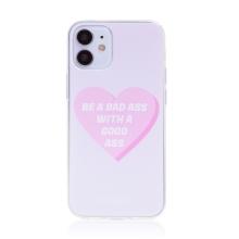 "Kryt BABACO pro Apple iPhone 12 mini - gumový - srdce "" zlobivá holka"""