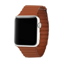 Řemínek BASEUS pro Apple Watch 44mm Series 4 / 5 / 42mm 1 2 3 - magnetický - hnědý