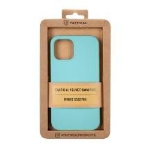 Kryt TACTICAL Velvet Smoothie pro Apple iPhone 12 / 12 Pro - příjemný na dotek - silikonový - azurově modrý