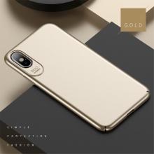 Kryt USAMS Jay pro Apple iPhone X - plastový - zlatý