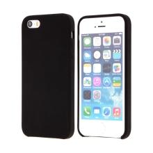 Kryt pro Apple iPhone 5 / 5S / SE - gumový - příjemný na dotek - černý