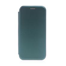 Pouzdro pro Apple iPhone 13 Pro Max - umělá kůže / gumové - tmavě zelené