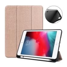 Pouzdro / kryt pro Apple iPad mini 4 / mini 5 - funkce chytrého uspání - gumové - Rose Gold