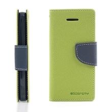 Ochranné pouzdro pro Apple iPhone 5C Mercury Goospery se stojánkem a prostorem pro umístění platebních karet - zeleno-modré