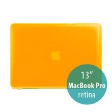 Tenký ochranný plastový obal pro Apple MacBook Pro 13 Retina (model A1425, A1502) - lesklý - oranžový