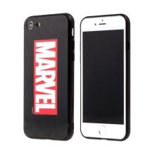 Kryt MARVEL pro Apple iPhone 7 / 8 - sklo / guma - černý