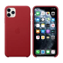 Originální kryt pro Apple iPhone 11 Pro Max - kožený - červený